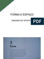 FORMA E ESPAO