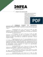 PROJETO DE RESOLUÇÃO (CONFEA)