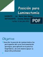 DATA Posición para Laminectomía
