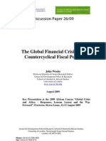 2009 - CDPR London - The Global Financial Crisis and Counter Cyclical Fiscal Policy