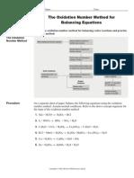 Oxidation Number Balancing 4u1