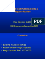BCR Perú - Política Fiscal Contracíclica y Reglas fiscales