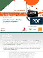 Inversion Publicidad Movil en España 2010