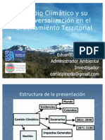 Cambio Climático y Ordenamiento Territorial