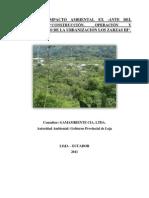 """Resumen ejecutivo del Proyecto """"""""SISTEMA DE ALCANTARILLADO SANITARIO Y PLANTA DE TRATAMIENTO DE AGUAS RESIDUALES PARA LA PARROQUIA SAN LUCAS"""""""