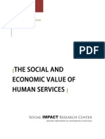 The Social and Economic Value of Human Services