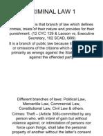 Criminal Law I Latest) (2)