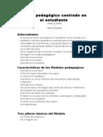 Modelo Pedagogico Centrado en El Estudiante