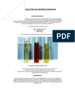 Biochemical Tests for Identifying Unknowns