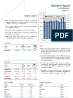 Derivatives Report 29th August 2011