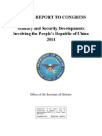 Military and Security Developments of China 2011
