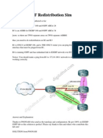 CCNP EIGRP OSPF Redistribution Sim