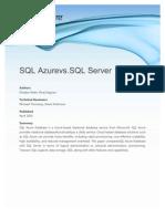 SQL Azure vs. SQL Server