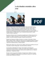 Reestructura de Deudas Estatales Abre Con Veracruz