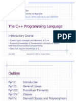 Introductory Course on C++