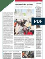 El cólera, la amenaza de los pobres