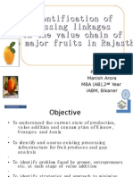 Missing Linkages in the Value Chain of Fruits