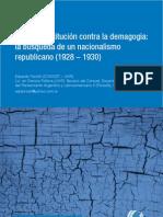 Eduardo Toniolli - La búsqueda de un nacionalismo republicano (1928-1930)