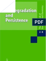 Bio Degradation and Persistence