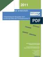 Tätigkeitsbericht eLearning-Office Phil-Fak ; Abteilung Barz Nov 2011
