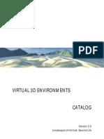Virtual 3D Environments Catalog - Version 2.0
