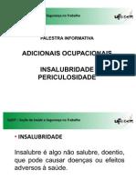 Palestra - Adicionais Ocupacionais - Insalubridade