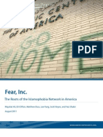 Fear, Inc.: The Roots of the Islamophobia Network in America