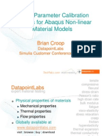 Material Parameter Calibration Services for Abaqus Non-Linear Material Models