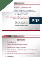 Concesiones Geotermica Peru