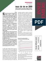 Les niveaux de vie des Français en 2009