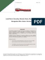 Land Rover - Alarm & Remote Start Wiring - Copyright © 2004-2006 - 12 Volt Resource LLC