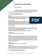 ESPECIFICACIONES TÉCNICAS DE ARQUITECTURA - COLISEO CERRADO