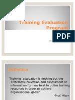 Training Evaluation Program