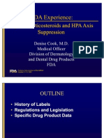FDA Experience Topical Corticosteroids and Hpa Axis Suppression 4045