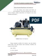 Desain Sistem Transmisi Pada Electric Air Compressor