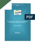 Informe ejecutivo del plan de desarrollo turístico de Sacatepéquez, Guatemala