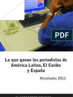 Encuesta Lo que ganan los periodistas en América Latina, El Caribe y España