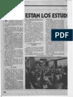 """""""¿Dónde están los estudiantes?"""" Marka, (1978 Octubre?), pp. 18-19."""