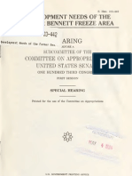 SPECIAL HEARING DEVELOPMENT NEEDS OF THE FORMER BENNETT FREEZE AREA 1994