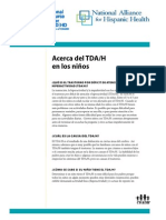 About ADHD in Children Spanish