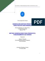 Metodo Generalizado Para Predecir El Funcionamiento de Hornos