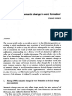 Franz Rainer. 2005. Semantic Change in Word Formation