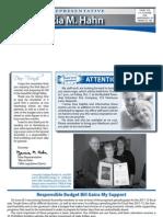 Rep. Hahn Fall 2011 Newsletter