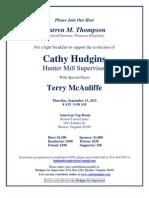 Cathy Hudgins Breakfast  Sept. 15th