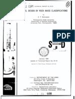 Tunnel Design by Rock Mass Classifications-bieniawski 1990