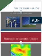 Criterios para los parques eólicos