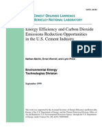 Energy Efficiency and Carbon Dioxide in Cement Industry