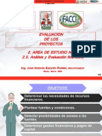 2.5. Analisis y Evaluacion Financier A