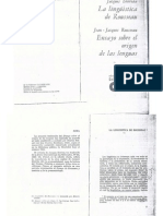 La lingüística de Rousseau