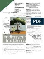 Fruitfulness 7 John 2-1-10 Handout 090411